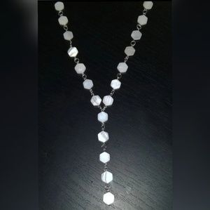 Unique elegant hexagonPearl necklace one of a kind